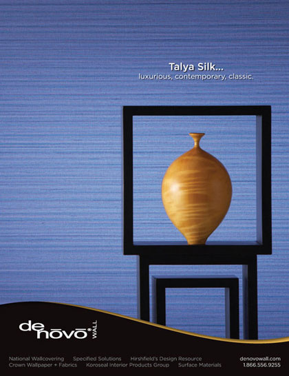 Magazine advertisement design for Denovo Wall's Tayla Silk