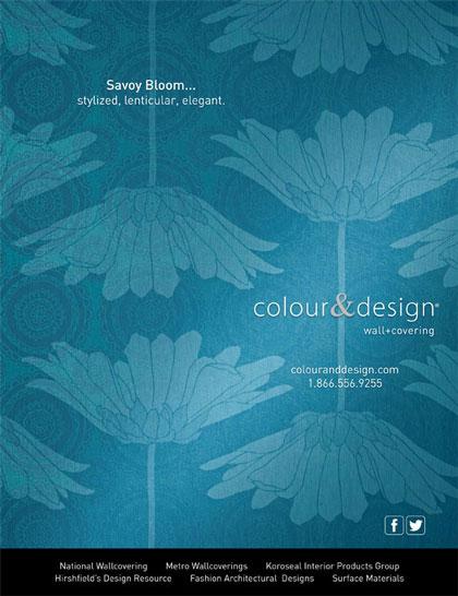Creative photography in Interior Design Magazine advertisement for Colour & Design