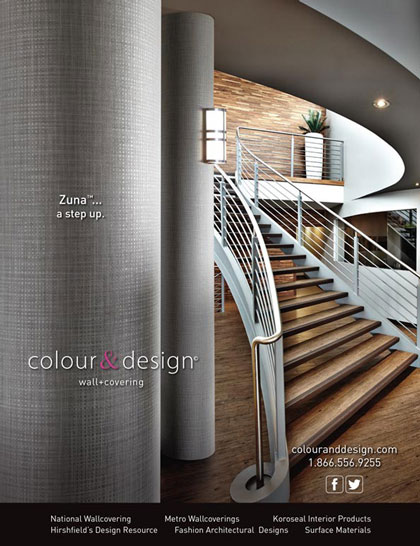 Magazine ad design and product photography Interior Design DeNovo Wall Zuna