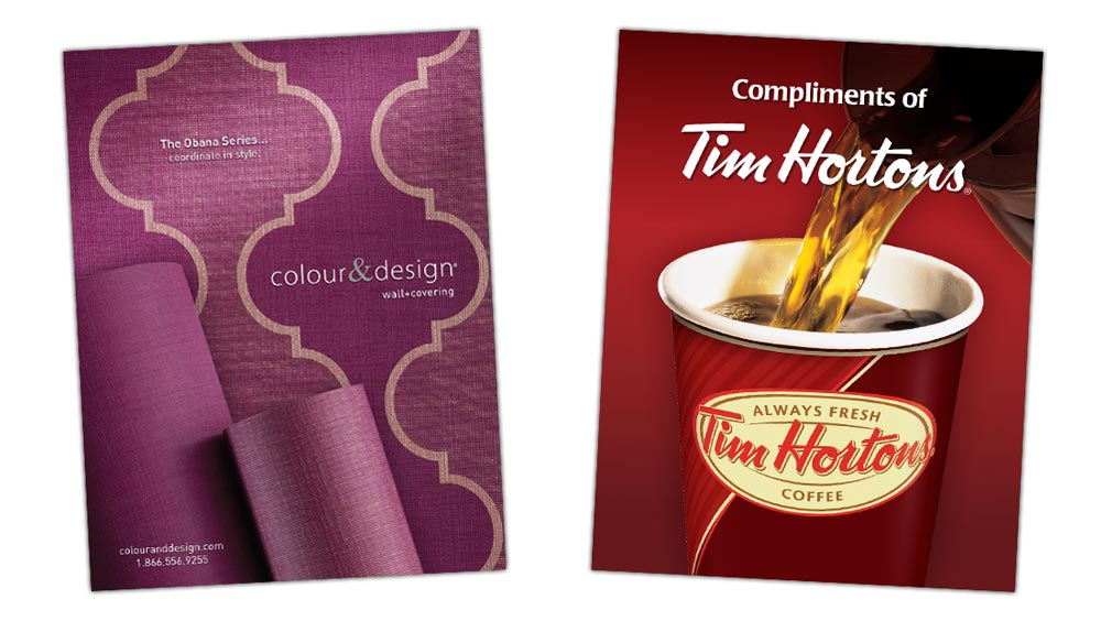 Large format poster design for Colour & Design and Tim Hortons