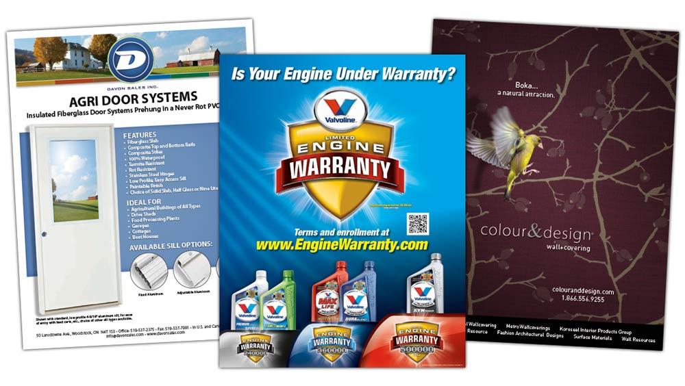 Professional advertisement design for Valvoline Canada