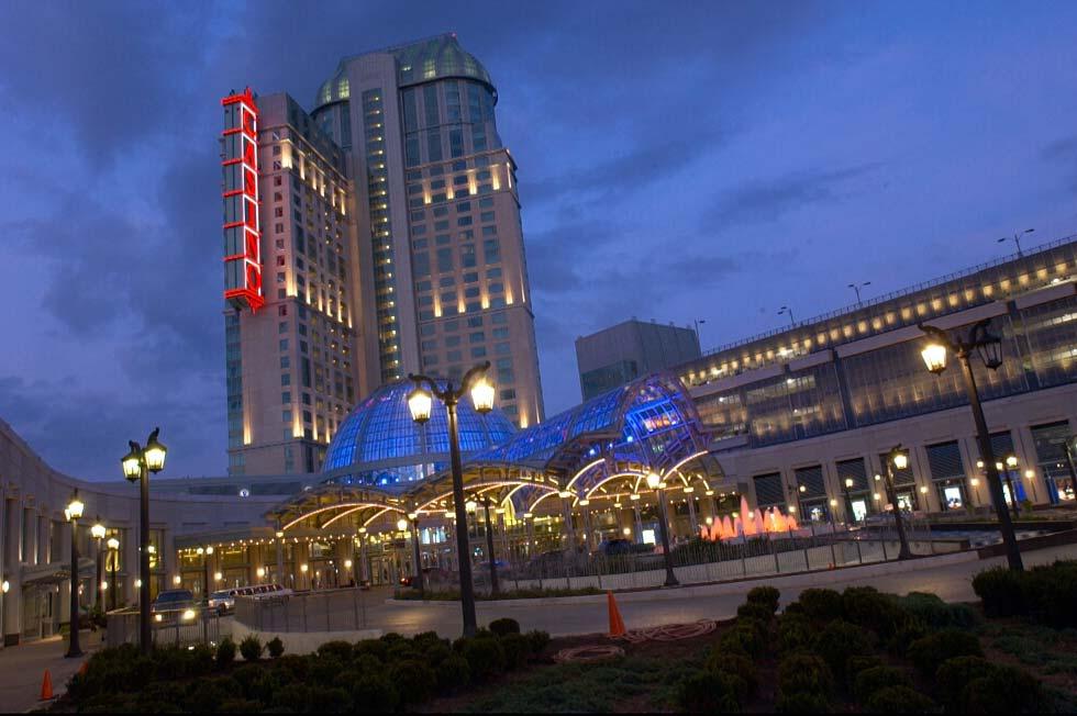 Exterior building photography of Fallsview Casino Niagara Falls, Ontario for marketing