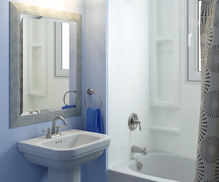 Image rendering using 3D technology of bathroom design