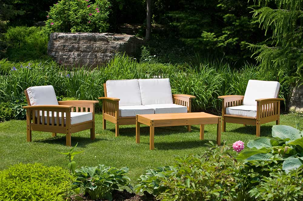 Patio furniture and accessories photography for advertisement