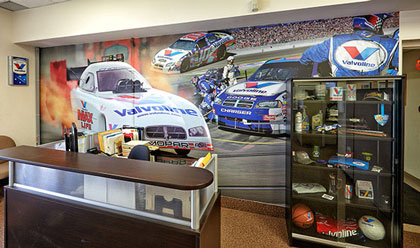 Wall graphic design for Valvoline Canada head office