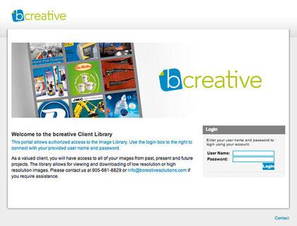 Bcreative online digital asset management library