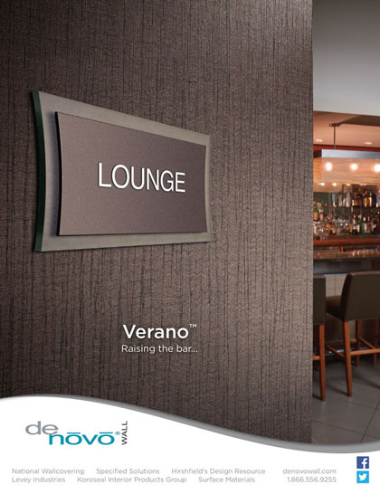 Wall covering photography and creative design for DeNovo Wall Verano advertisement