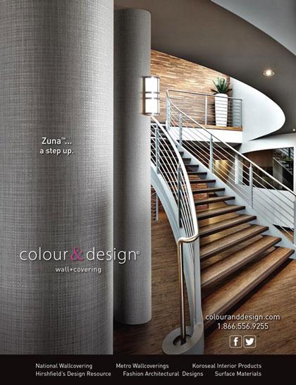 Magazine ad design and product photography Interior Design DeNovo Wall Zuna