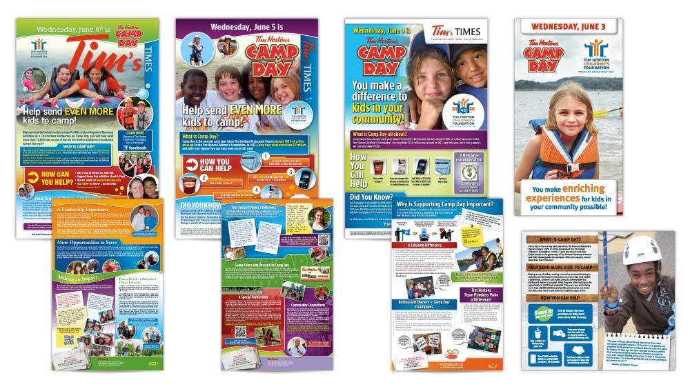 Creative newsletter design in Hamilton for Tim Horton Children's Foundation