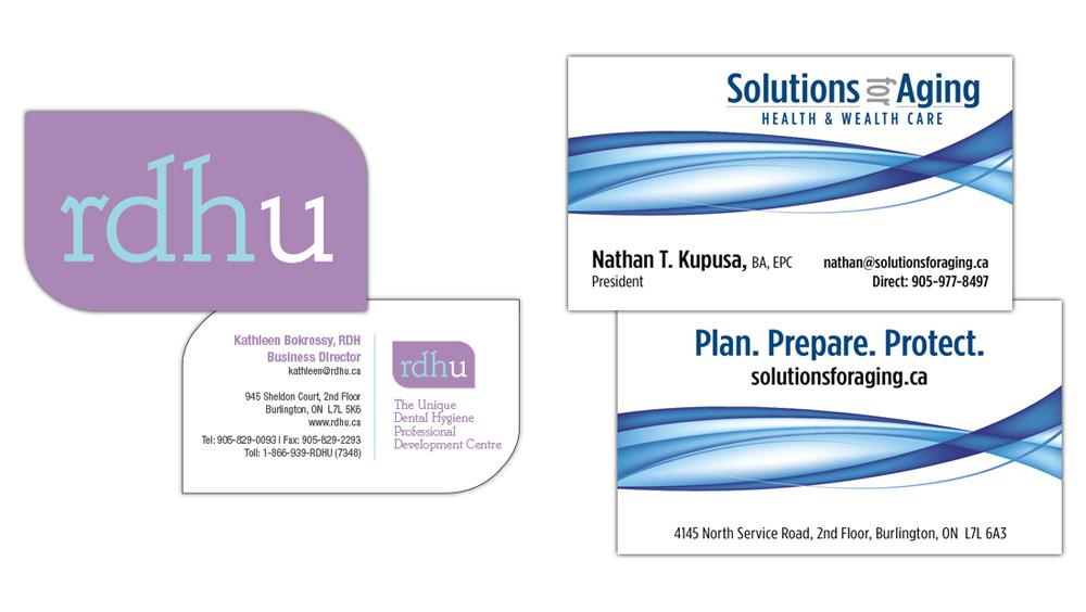 Creative custom business card design with dieline