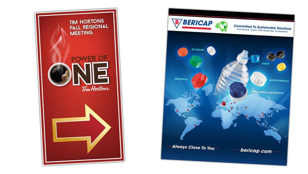 Professional signage design for Tim Hortons and Bericap