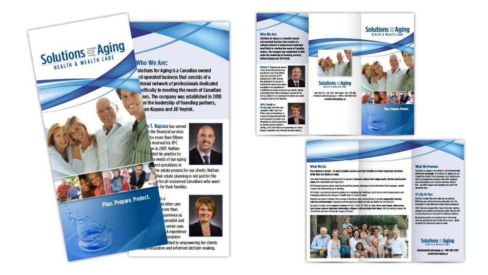 Buisiness tri-fold brochure design Burlington Ontario
