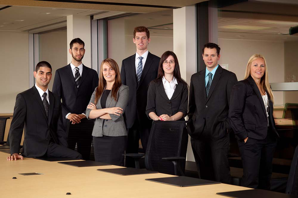 Group portrait photography of professionals