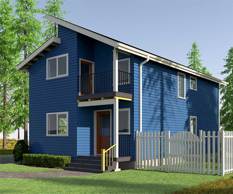 Image rendering of house exterior using 3d technology