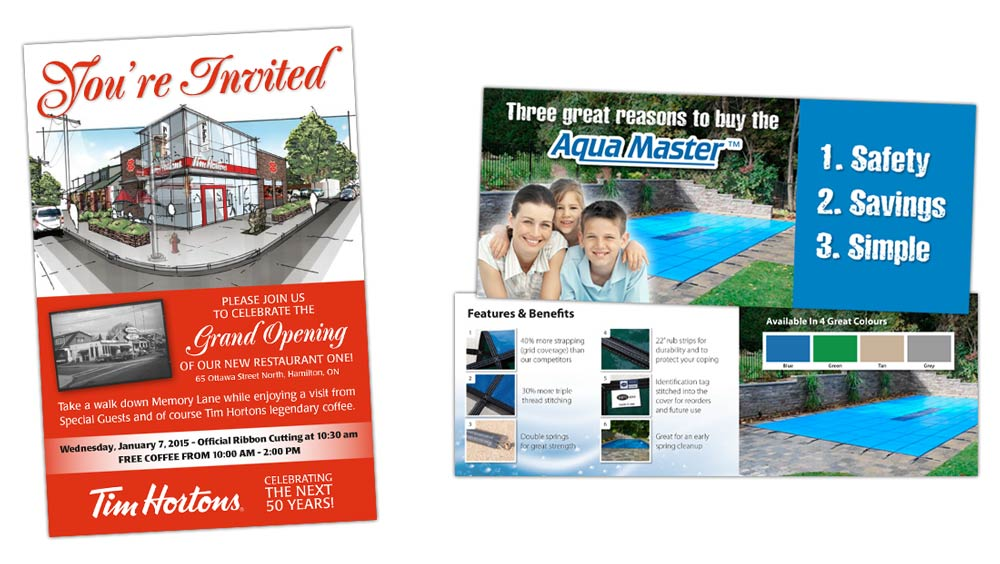 Creative mailer and invitation graphic design