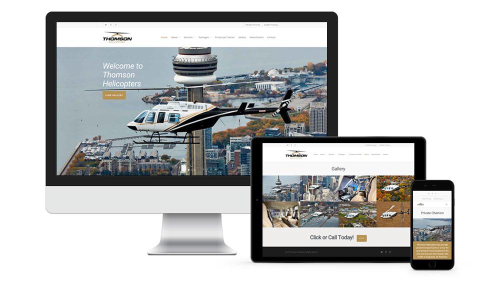 Modern website development with full width page slider full