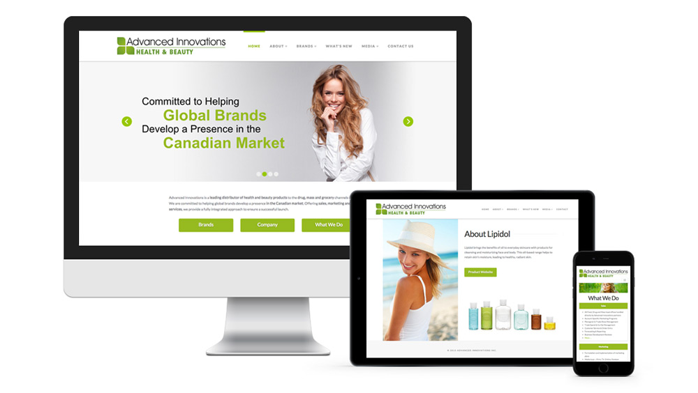 Responsive web development home page slider and product page for promotion