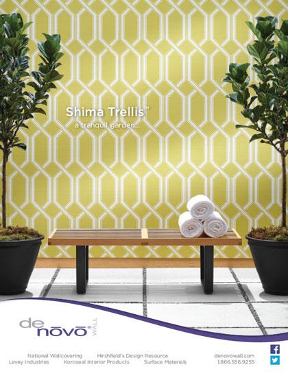 Advertisement design photography for DeNovo Wall's Shima Trellis