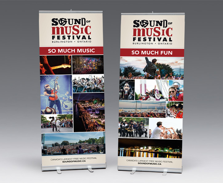 Sound of Music Festival 2016 banner stand design
