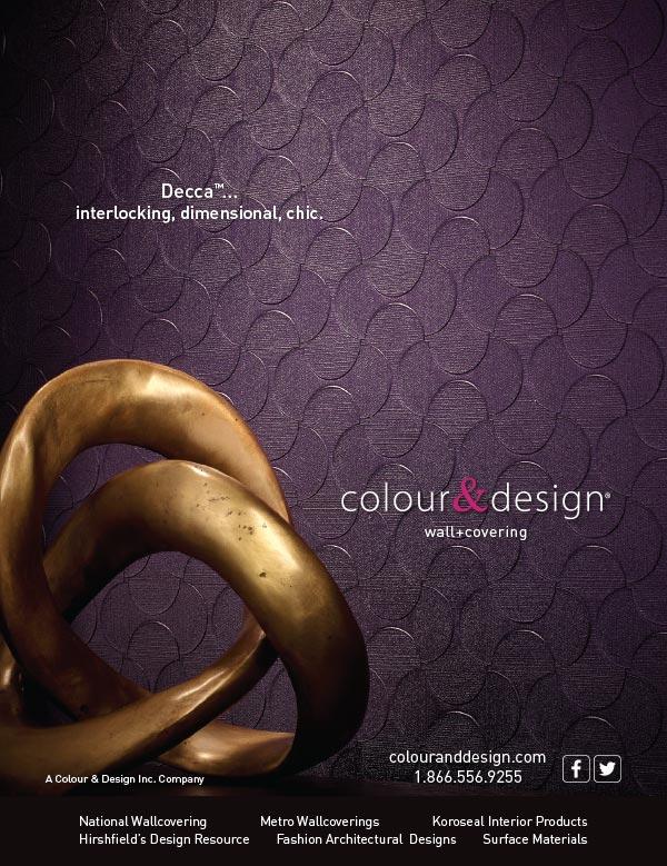 Ad design Decca wall covering for Colour & Design