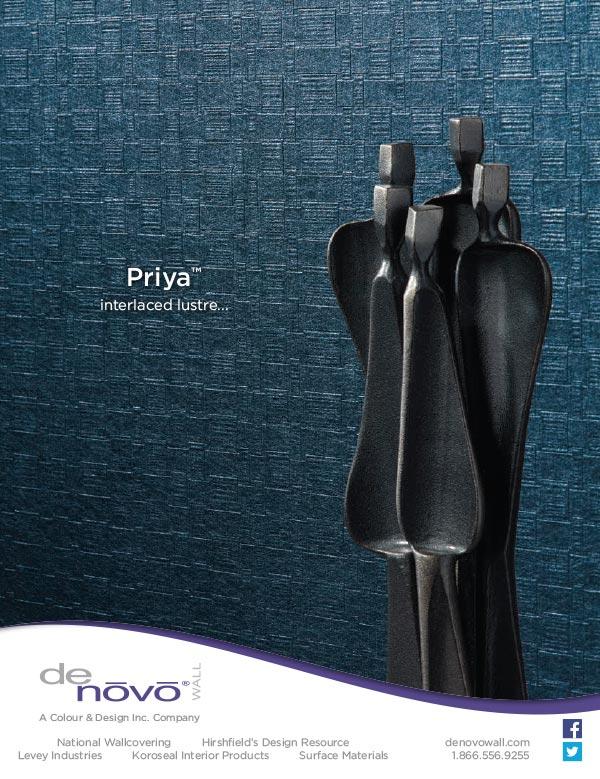Ad design for Priya wall covering for Denovo Wall