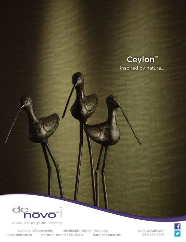 Advertisement photography Ceylon wall covering with birds for Denovo Wall