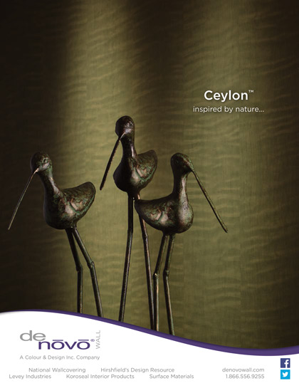 Ad photography Ceylon wall covering with bird sculptures